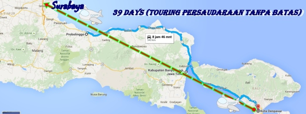 Peta perjalanan surabaya banyuwangi
