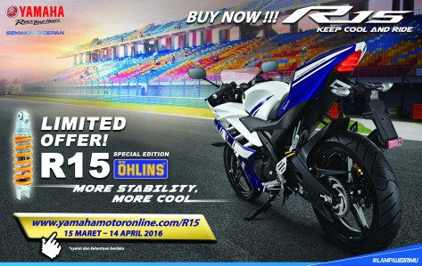 Booking Online YZF-R15 Ohlins Special Edition