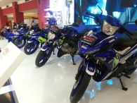 Empat motor Yamaha livery MotoGP (YZF-R25, YZF-R15, New V-Ixion Advance, MX King) diperkenalkan di Indonesia International Motor Show (IIMS) 2016 (4)