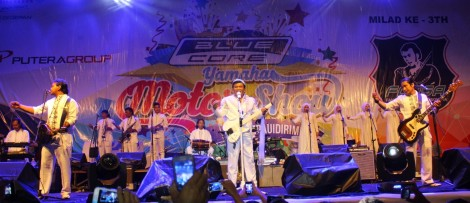 Rhoma Irama dan band Soneta tampil dalam event Blue Core Yamaha Motor Show dan soft launching Mio Z (3)