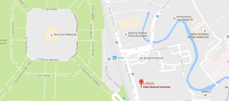 lokasi galeri nasional