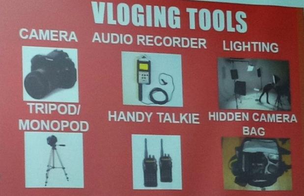 Peralatan untuk membuat vlog