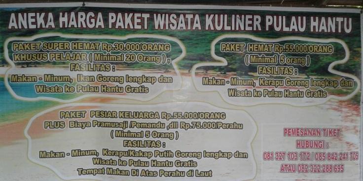 Paket wisata kuiner Pulau hantu