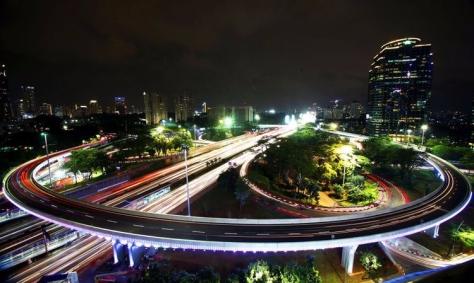 Simpang Susun Semanggo (ANTARA FOTO/Rivan Awal Lingga)