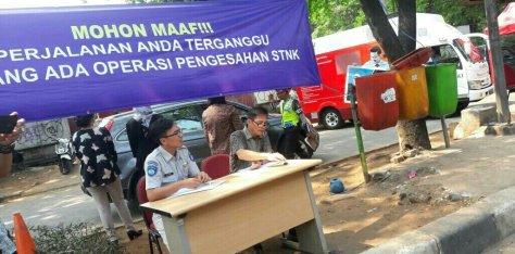 Kegiatan razia di wilayah Jakarta