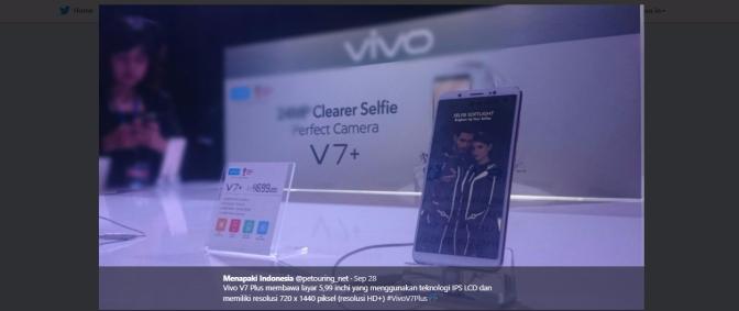 Vivo V7+, Perfect Camera untuk Perfomance Perfect