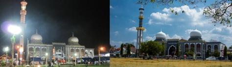 Suasana Masjid Agung Brebes Malam dan Siang