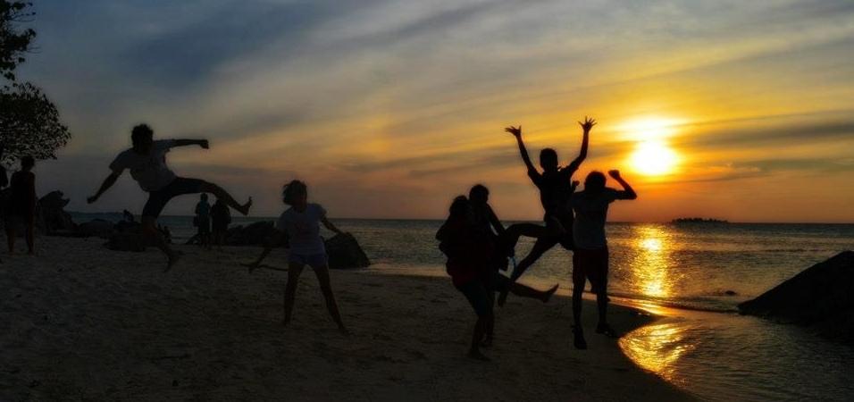 Menikmati senja di Pulau Karimunjawa