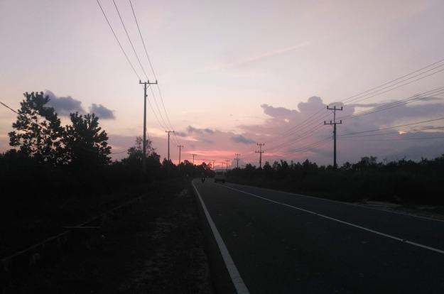 Jalanan legan di Tanjung Pandan Belitung